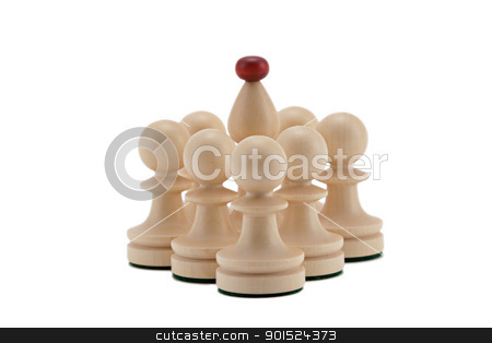 Well defended Bishop stock photo, Bishop surrounded with pawns by Gyöngyvér Szász
