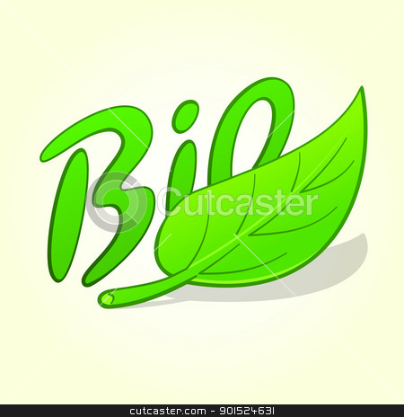 Green Bio Label stock vector clipart, Symbol of organic nature products as green vector illustration by Vitezslav Valka
