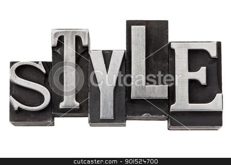 style word in metal type stock photo, style - isolated word in mixed vintage metal printing blocks by Marek Uliasz