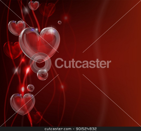 Abstract valentines day heart background stock vector clipart, An abstract valentines day heart background illustration. by Christos Georghiou