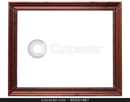 Old wooden frame isolated on a white background. stock photo, Old wooden frame isolated on a white background. by Stephen Rees
