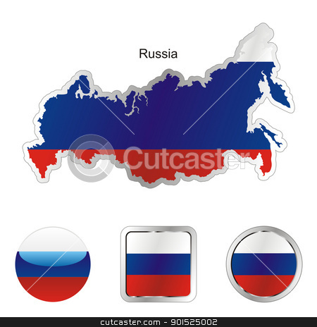 russia in map and internet buttons shape stock vector clipart, fully editable flag of russia in map and internet buttons shape by pilgrim.artworks