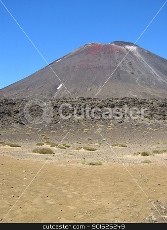 Mount Ngauruhoe, active volcano in New Zealand stock photo, The peak of Mount Ngauruhoe, an active volcano in the Tongariro National Park, New Zealand by DirkR