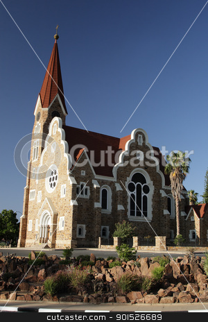 Christ Church, Windhoek stock photo, The Christ Church, a historic landmark in Windhoek, Namibia. by DirkR