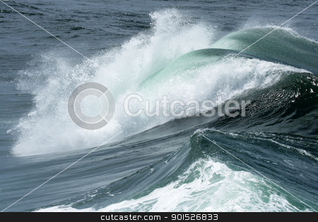 Waves stock photo, A wave is breaking at the coast of Australia. by DirkR