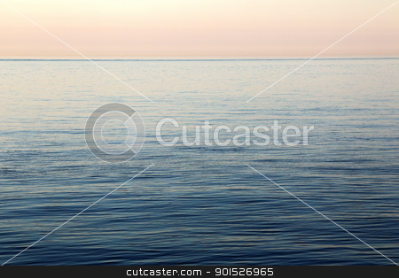 Calm Sea stock photo, Calm sea at Helgoland in evening light. by DirkR