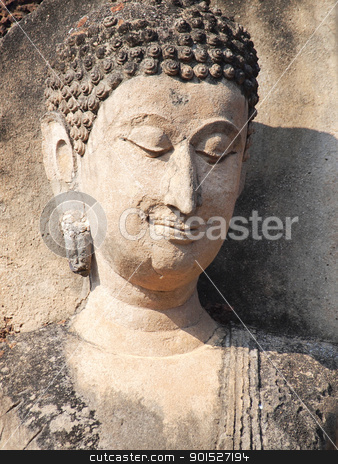 Close up Buddha stock photo, Close up Buddha by Paisan  Changhirun