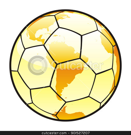 isolated soccer ball with world map layout stock vector clipart, fully editable vector illustration of isolated soccer ball with world map layout by pilgrim.artworks