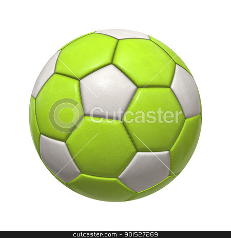 soccer ball stock photo, An image of an isolated green white soccer ball by Markus Gann