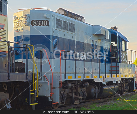 Engine sude HDR stock photo, HDR photo image of a locomotive engine' side in th morning light by P.J. Lalli