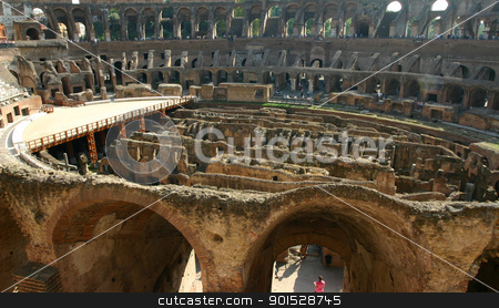 Interior of the Colosseum in Rome stock photo, An interior view of the historic Colosseum in Rome by Samuel Jolly