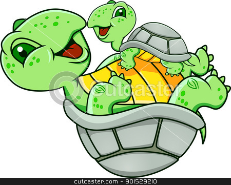 Funny Turtle stock vector clipart, Vector Illustration Of Funny Turtle by Surya Zaidan