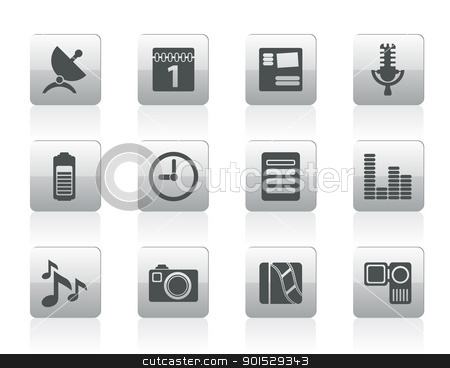 Icons Stock Vector Clipart Inter Puter And Mobile Phone