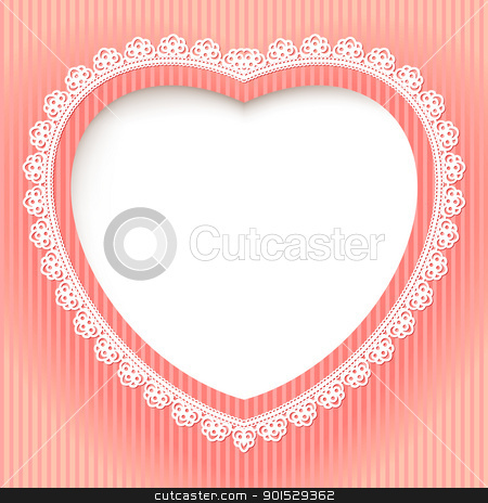 Decorative heart stock photo, Decorative heart is on a pink background. Illustration for design by dvarg