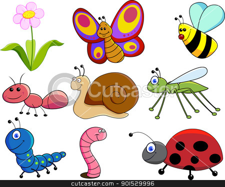 Small Animals stock vector clipart, Vector Illustration Of Small Animals by Surya Zaidan
