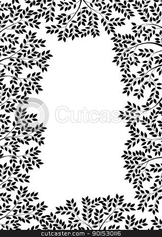 Nature silhouette  stock vector clipart, Vector Illustration Of Nature silhouette  by Surya Zaidan