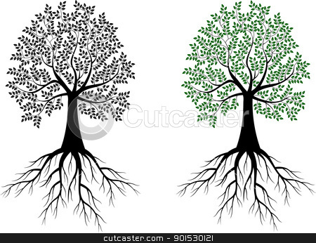 Tree silhouette stock vector clipart, Vector Illustration Of Tree silhouette by Surya Zaidan