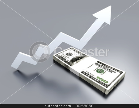 Growing Value stock photo, 3D rendered Illustration.   by Michael Osterrieder