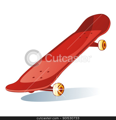 isolated colored skateboard stock vector clipart, fully editable vector illustration of isolated colored skateboard by pilgrim.artworks