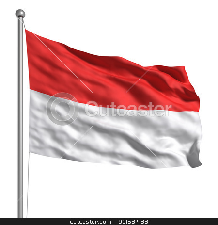 Flag of Indonesia stock photo, Flag of Indonesia by ayzek