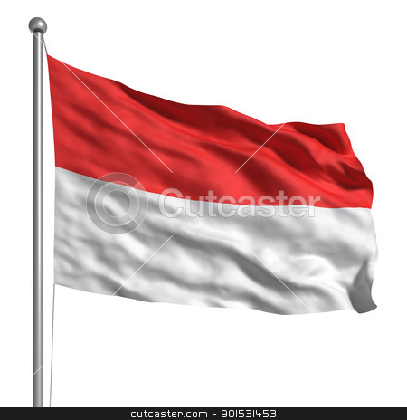 Flag of Monaco stock photo, Flag of Monaco by ayzek