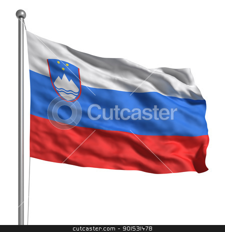 Flag of Slovenia stock photo, Flag of Slovenia by ayzek