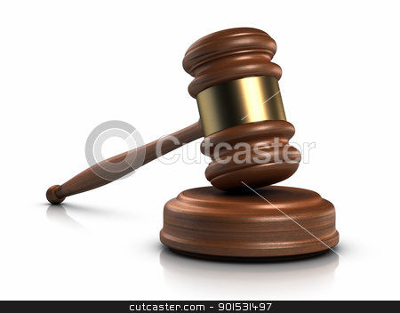Gavel stock photo, Gavel and sound block. by ayzek