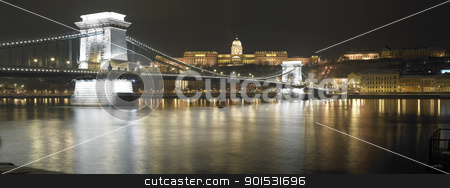 Budapest, Hungary stock photo, Budapest at night, Hungary by Adam Radosavljevic