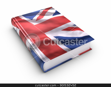 Book covered with British flag stock photo, Book covered with British flag. by ayzek