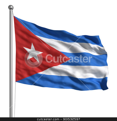 Flag of Cuba stock photo, Flag of Cuba by ayzek