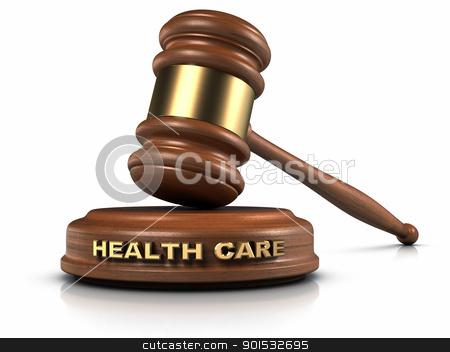 Health Care Law stock photo, Gavel and