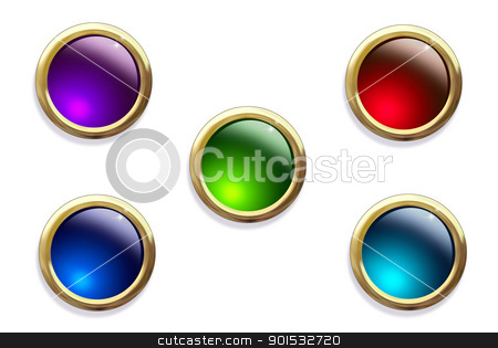 Multi-colored buttons on a white background. stock photo, Multi-colored buttons on a white background. by photomyheart