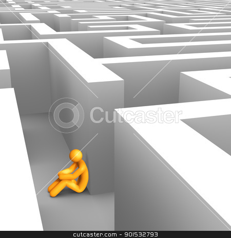 Desperate in Maze stock photo, Desperate in Maze. by ayzek