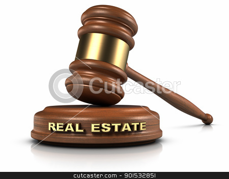 Real Estate Law stock photo, Gavel and