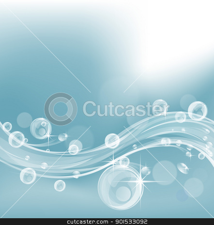 Cool liquid background design stock vector clipart, Abstract liquid background design in cool blue colors by Christos Georghiou