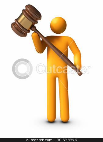 Holding Gavel stock photo, Holding Gavel. by ayzek