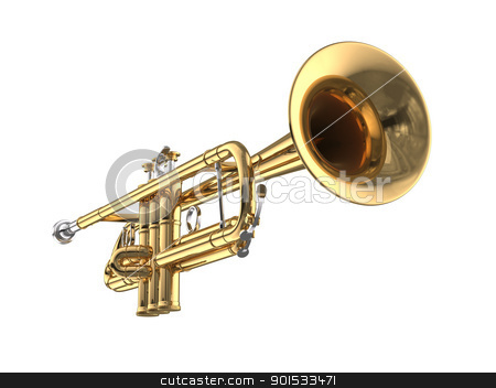 Trumpet stock photo, Trumpet by ayzek