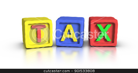 Play Blocks : TAX stock photo, Play Blocks : TAX by ayzek