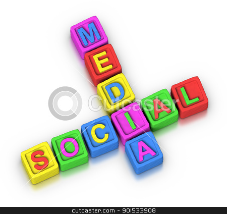 Crossword Puzzle : SOCIAL MEDIA stock photo, Crossword Puzzle : SOCIAL MEDIA by ayzek