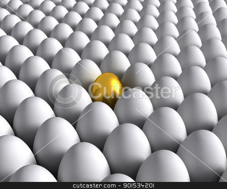 Golden egg stock photo, Golden egg by ayzek