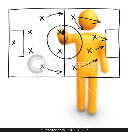 Soccer Strategy stock photo, Soccer Strategy by ayzek