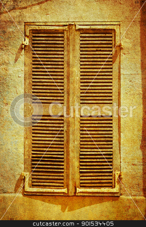 Vintage window stock photo, a vintage window picture - retro style by Christophe Rolland