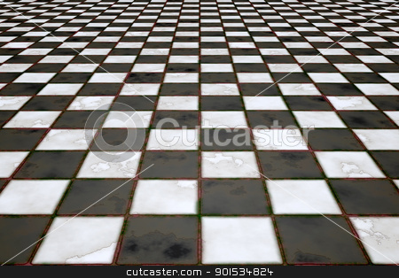 black and white stock photo, An image of a black and white tiles background by Markus Gann