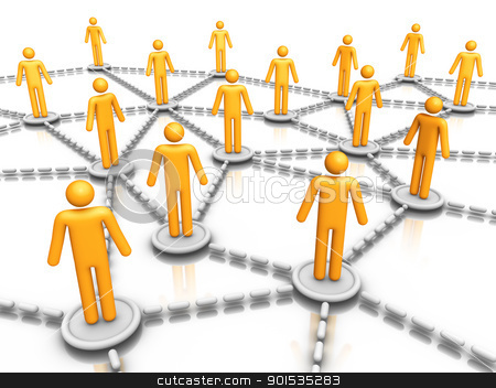 social network stock photo, social network by ayzek