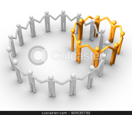 Group of People stock photo, Group of People. by ayzek