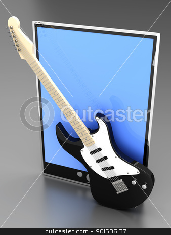 Music Tablet PC stock photo, A Tablet PC / Pad. 3D rendered illustration. by Michael Osterrieder