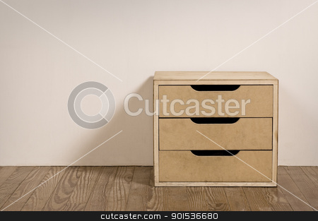 Old room interior with chest drawer. stock photo, Chest drawer in the interior of an old room. by Pablo Caridad