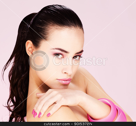 Black hair woman stock photo, Portrait of a pretty young woman by iMarin