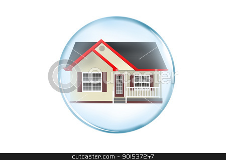 Home investment stock photo, Home in a bubble. by WScott