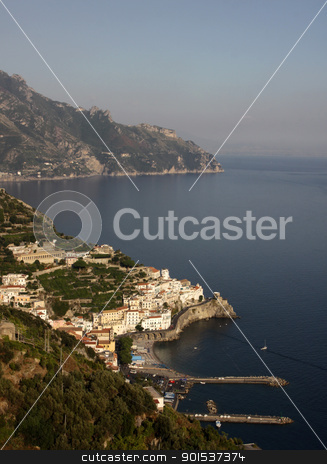 Amalfi stock photo, The town of Amalfi on the Amalfi coast in southern Italy.  by Chris Hill